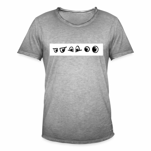 graffiti caracter augen - Männer Vintage T-Shirt