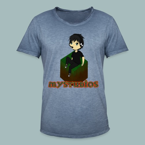 Mystudios Stylo - Männer Vintage T-Shirt
