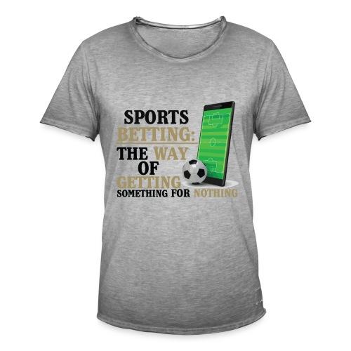 Sportwetten Design 7 - Männer Vintage T-Shirt