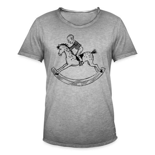 konik na biegunach - Koszulka męska vintage