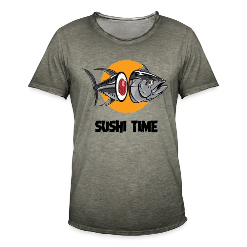 SUSHI TIME-tonno-n - Maglietta vintage da uomo