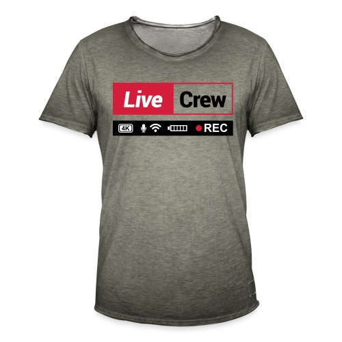 Live crew - Maglietta vintage da uomo