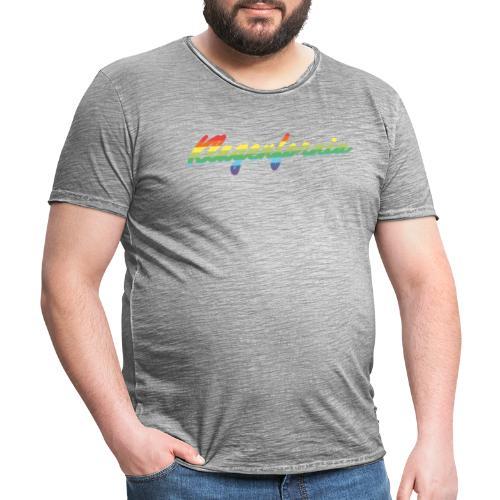 Rainbow - Männer Vintage T-Shirt