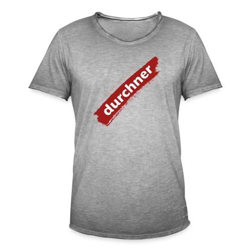 vorne oder hinten schräg - Männer Vintage T-Shirt
