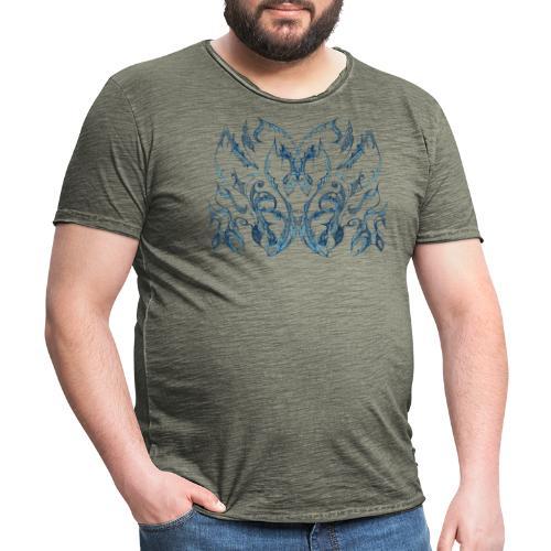 Blaue Tintenspitze - Männer Vintage T-Shirt