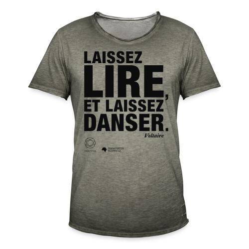LAISSEZ LIRE   Bookish Merch - Männer Vintage T-Shirt