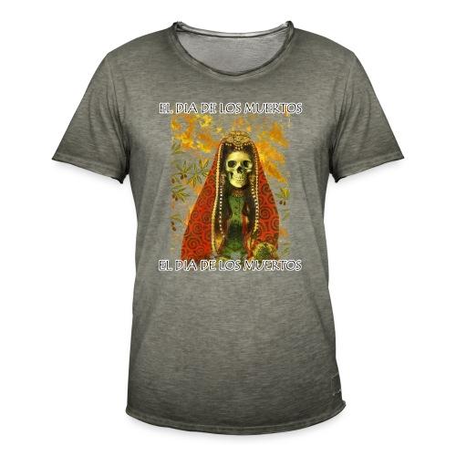 El Dia De Los Muertos Skeleton Design - Men's Vintage T-Shirt