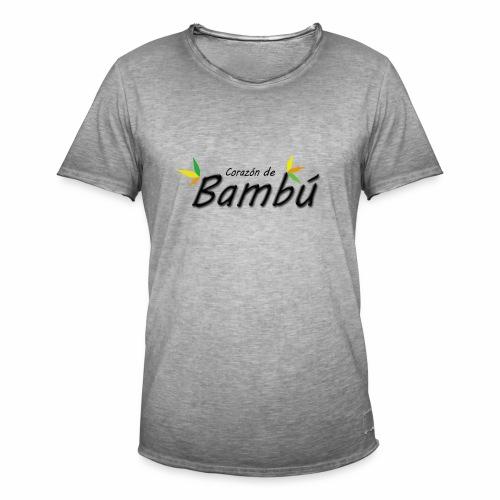 Corazón de bambú - Camiseta vintage hombre