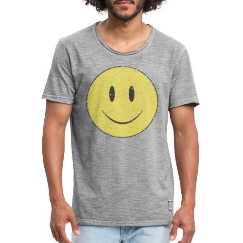 happy face - Camiseta vintage hombre