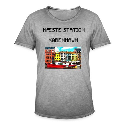 Næste station København - Herre vintage T-shirt
