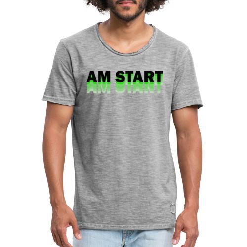 am Start - grün schwarz faded - Männer Vintage T-Shirt