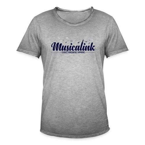 Musicalink blue - T-shirt vintage Homme
