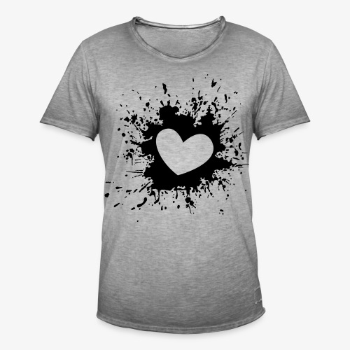 Heart - Männer Vintage T-Shirt