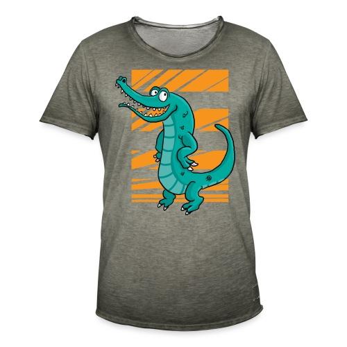 Crocrodile - T-shirt vintage Homme