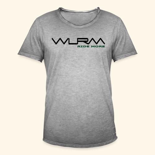 WLRM Schriftzug black png - Männer Vintage T-Shirt