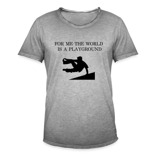 THE WORLD IS A PLAYGROUND - Vintage-T-shirt herr