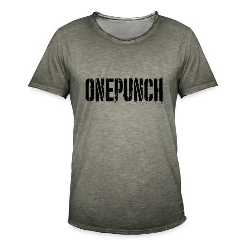 Boxing Boxing Martial Arts mma tshirt one punch - Men's Vintage T-Shirt