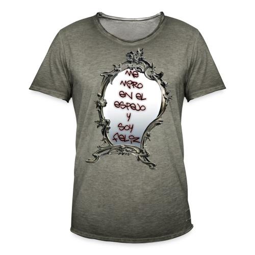 ME MIRO EN EL ESPEJO.... - Camiseta vintage hombre
