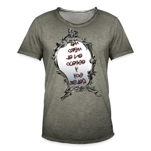 Para el Espejo:ME MIRO EN EL ESPEJO Y SOY FELIZ - Camiseta vintage hombre