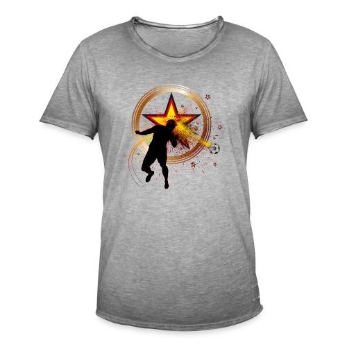 Fussball Fanshirt Deutschland - Kopfball Treffer - Männer Vintage T-Shirt