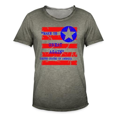 MAKE USG REAT AGAIN - Vintage-T-shirt herr