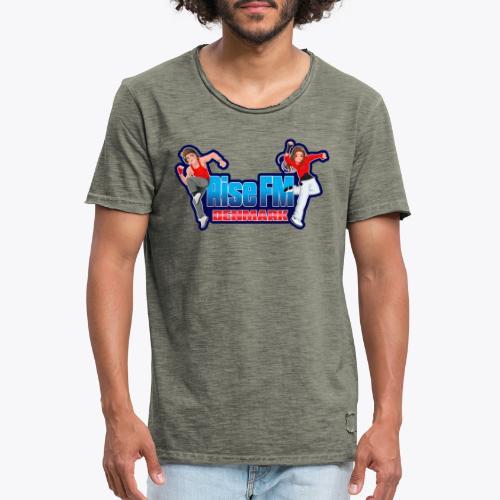 Rise FM Denmark Full Logo - Herre vintage T-shirt