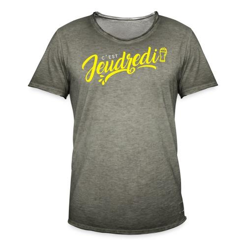 jeudredi - T-shirt vintage Homme