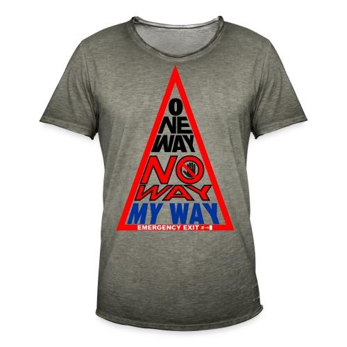 No way - Maglietta vintage da uomo