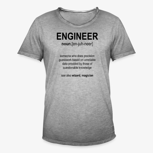 Engineer Def. 1 (Black) - T-shirt vintage Homme