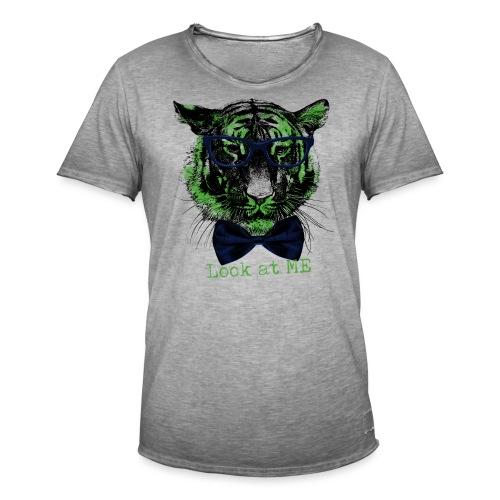 Tigerkopf_Look at me - Männer Vintage T-Shirt