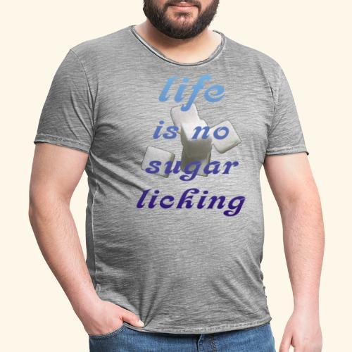 Zuckerschlecken - Männer Vintage T-Shirt