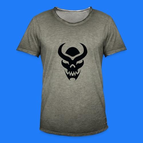TRIBAL SKULL NOIR - T-shirt vintage Homme