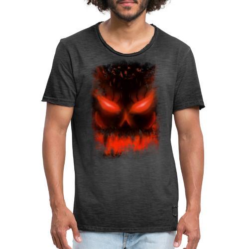 demon skull - T-shirt vintage Homme