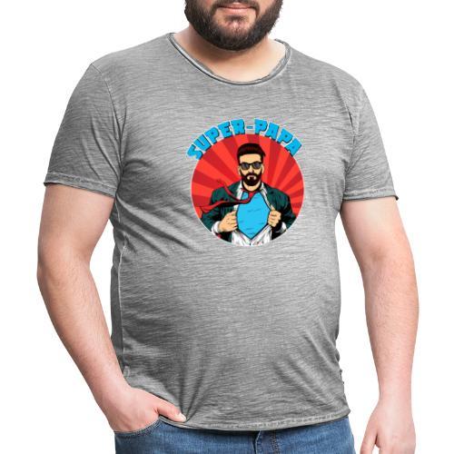 Super Papa - T-shirt vintage Homme