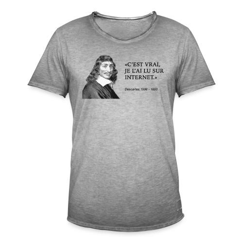 Descartes : je l'ai lu sur internet - Men's Vintage T-Shirt