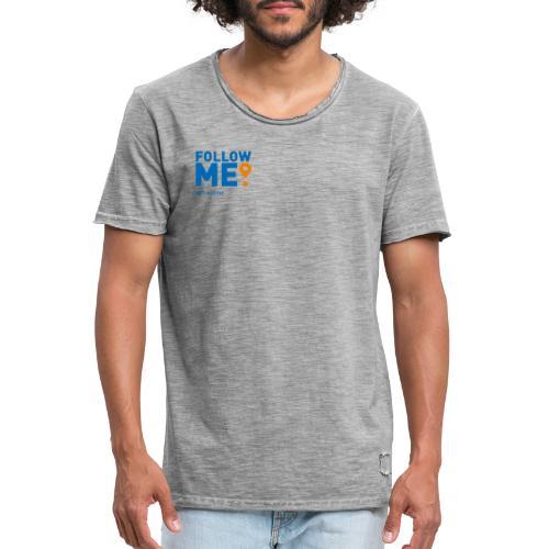 Follow me - Herre vintage T-shirt