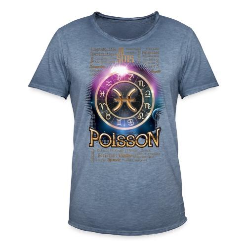 POISSONS - T-shirt vintage Homme
