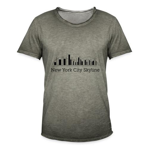 ny skyline - Koszulka męska vintage