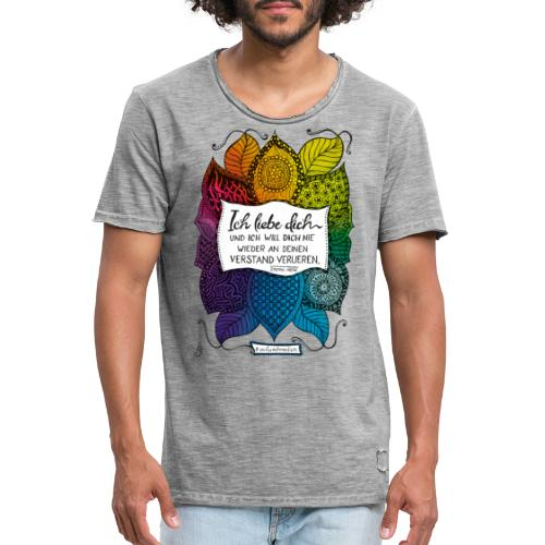 Ich liebe dich - Rainbow Version - Männer Vintage T-Shirt