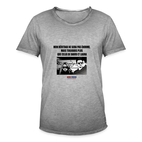 T shirt David et Laura - T-shirt vintage Homme