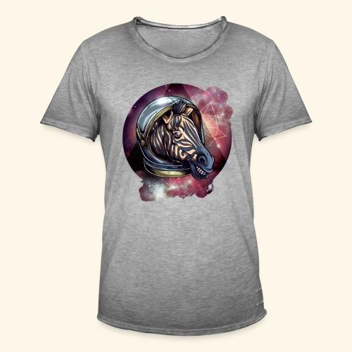 Space Zebra - Männer Vintage T-Shirt