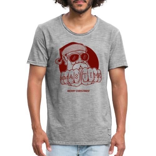 PAPY XMAS TIME - T-shirt vintage Homme