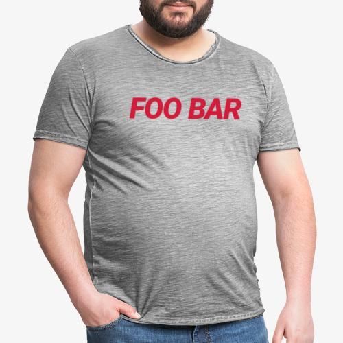 Foo Bar - Männer Vintage T-Shirt