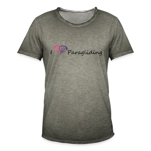 I Love Paragliding V1 - Men's Vintage T-Shirt