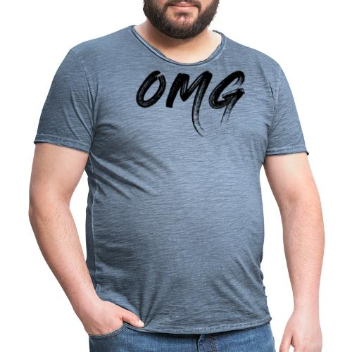 OMG, musta - Miesten vintage t-paita