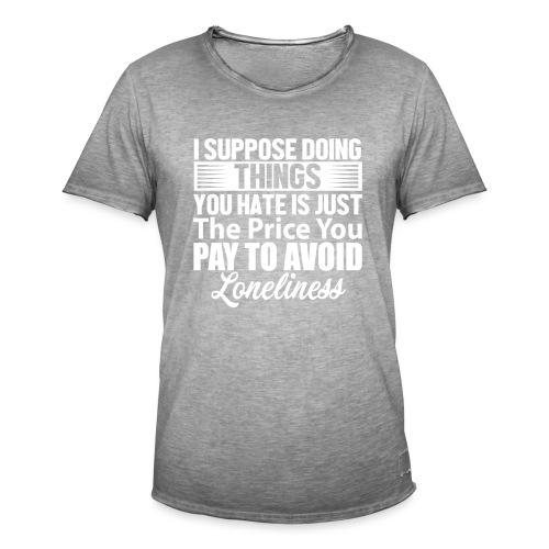 i suppose - Vintage-T-skjorte for menn
