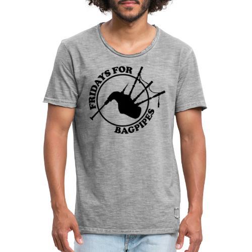Fridays for Bagpipes! (schwarz) - Männer Vintage T-Shirt