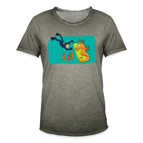Rencontre sous-marine - T-shirt vintage Homme