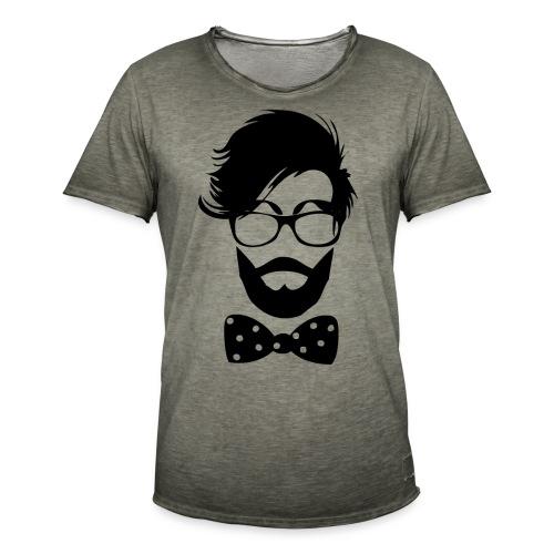 hipster_med_briller_og_butterfly - Herre vintage T-shirt