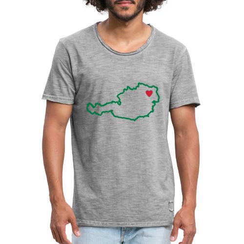 Ein Herz für Österreich - Männer Vintage T-Shirt